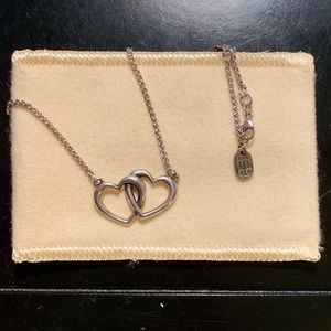 James Avery double heart linked necklace